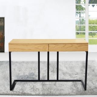 【H&D】菁英4尺栓木本色簡約型二抽書桌