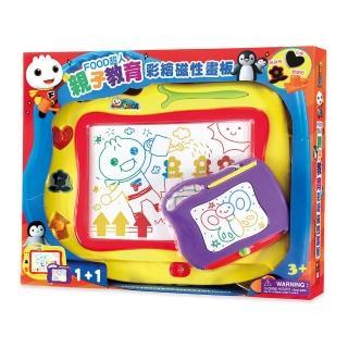 【風車圖書】親子教育彩繪磁性畫板(FOOD超人)