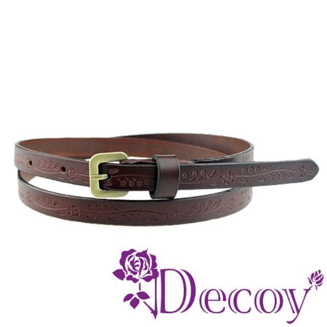 【Decoy】花草元素*真牛皮腰帶/四色可選