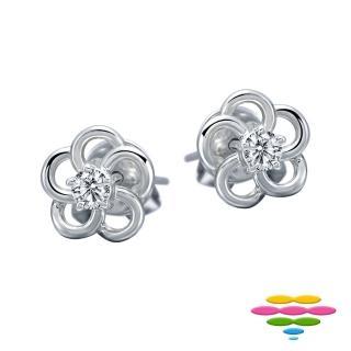 【彩糖鑽工坊】18K 小花鑽石耳環(花語Blossom系列)