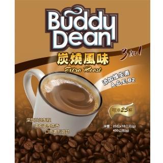 【Buddy Dean】巴迪三合一咖啡-炭燒風味(18gx25包入/ 袋)