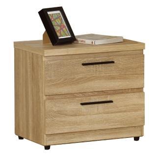 【AT HOME】凱文橡木紋二抽收納櫃 床頭櫃