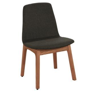 【東京家居】肯亞倪栓木實木灰色布質餐椅
