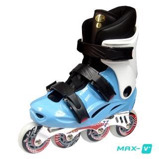 【DLD】V-MAX 鋁合金直排輪(藍白)