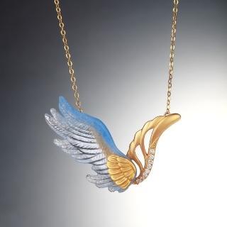 【琉璃工房LIULI PLUX】飛翔 項鍊(適合收藏  生日 節日贈禮)