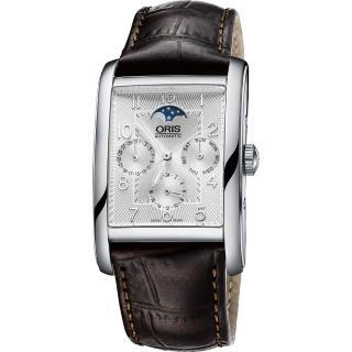 【ORIS】Rectangular 經典月相機械腕錶(0158276944061-0752420FC)