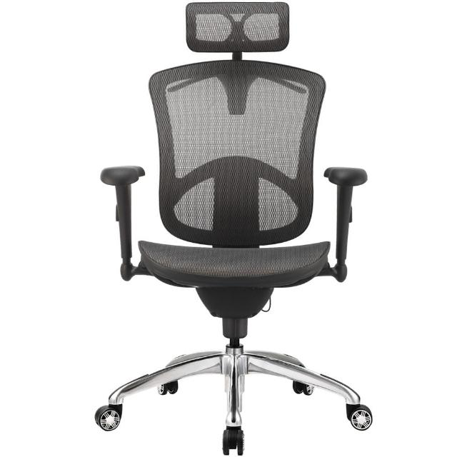 【aaronation愛倫國度】PEACE 系列人體工學椅/電腦椅(JQ-SL-F1-鋁腳-三色可選)