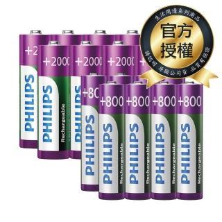 【PHILIPS】低自放充電電池