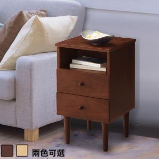 【C&B】代代木和風實用收納床邊櫃(兩色可選)