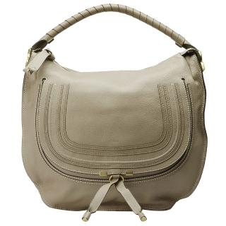 【CHLOE】經典Marcie Large Bag小牛皮手提肩背包(淺灰-大3S0854-161-04P)