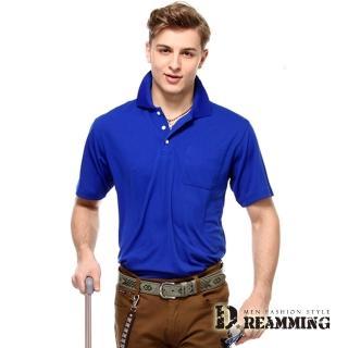 【Dreamming】涼爽3M素面短袖POLO衫(共二色)