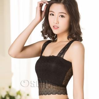 【Osun】蕾絲小可愛背心 百搭蕾絲雙肩-短 1入 黑 白 #2051 CE-176