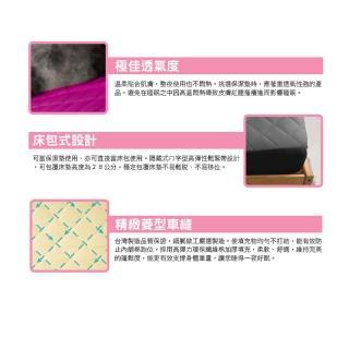 【寢城之戀】台灣製造 馬卡龍炫彩 床包式保潔墊(單人/雙人/加大/多色任選)