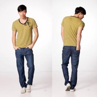 【RH紳士品格】時尚簡約小直筒牛仔褲(深藍色全尺碼28到38)