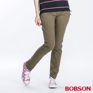 【BOBSON】女款小直筒褲(兵綠8053-41)