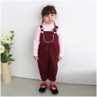 【baby童衣】任選 女寶寶吊帶褲 硬挺素色大口袋連身褲 52258(共一色)