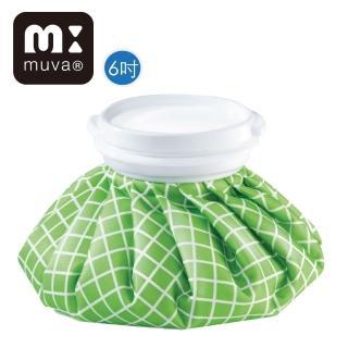 【muva】冰熱雙效水袋(6吋_綠格紋)/