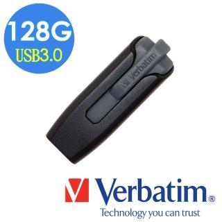 【Verbatim 威寶】V3 128GB USB3.0 商務隨身碟(灰黑)