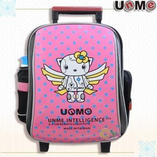【UnMe】機器人高年級拉桿後背兩用書包(桃粉紅)