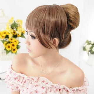 【Lady c.c.】亮麗女王特色造型抽繩丸子髮包(亞麻)