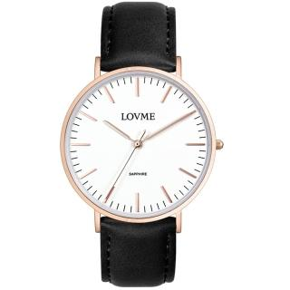 【LOVME】城市簡約風婉錶-IP玫x黑帶/41mm(VL0012M-43-241)