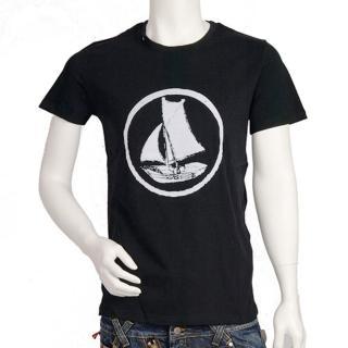 【Krisvanassche】帆船圖騰 T-shirt(黑81KJ30B N001)