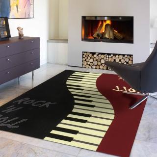 【范登伯格】紐約★流行元素進口地毯-搖滾樂(160x225cm)