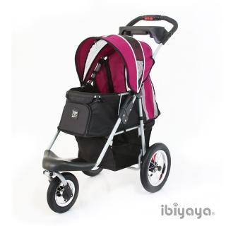 【IBIYAYA依比呀呀】充氣胎冠軍子彈推車-紫莓黑(FS801)