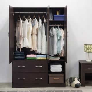 【TZUMii】雅緻三門二抽衣櫃-雙色可選(衣櫥)