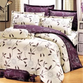 【艾莉絲-貝倫】花香樂譜(6x6.2呎)四件式雙人加大(100%純棉)薄被套床包組(米色)
