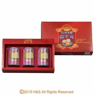 【瀚軒】樂可思智利鮑貝超值禮盒3罐入(紙盒)