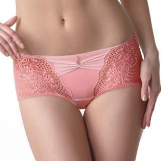 【LADY】華麗樂園系列 中低腰平口褲(粉光橘)