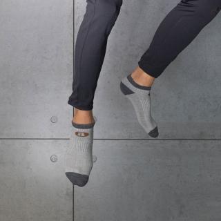 【aPure】除臭襪-雙色船型運動襪(灰)