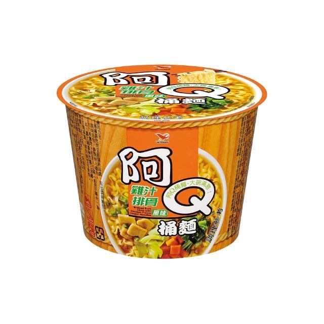 【阿Q桶麵】雞汁排骨風味桶12入/箱(入口香華而不油膩)