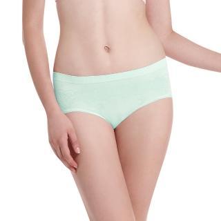 【LADY】超彈力親膚無痕系列 中腰低衩三角褲(綠色)