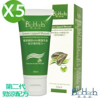 【碧荷柏】第二代葡萄糖胺MSM關護乳膏-薄荷勁涼配方(50ML/瓶X5入)
