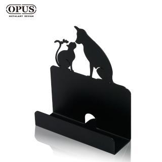 【OPUS東齊金工】歐式鐵藝名片座/高級名片架/會展用品/金屬商務名片盒(CA-do06B 寵愛_經典黑)