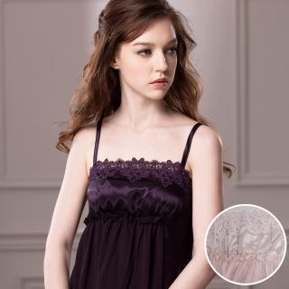 【羅絲美睡衣】高雅奢華紗典細肩帶洋裝睡衣(粉色)