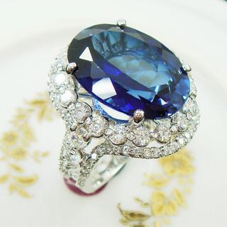 【Celosa珠寶】亮麗之星藍寶戒指