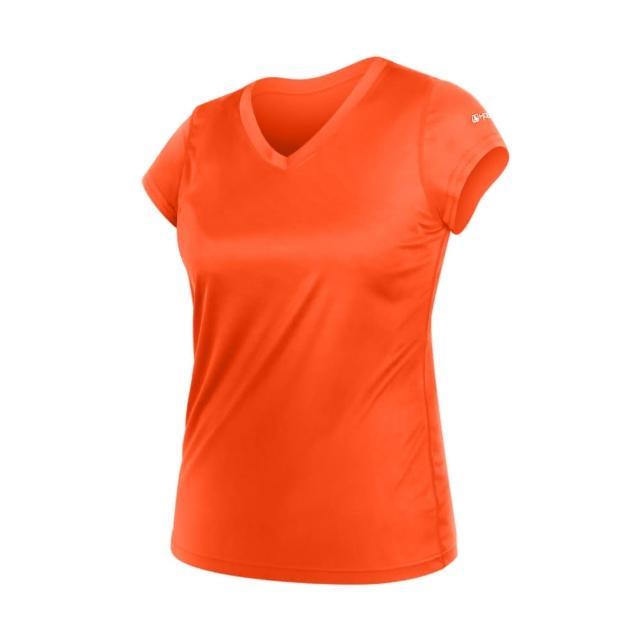【HODARLA】女無感V領短T恤-慢跑 路跑 休閒(陽光橘)評比