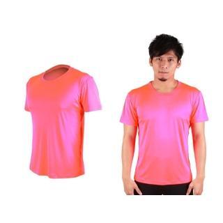 【HODARLA】FLARE 300 男女超柔肌膚排汗衫-短袖T恤 涼感 柔膚 台灣製 螢光粉(3109303)