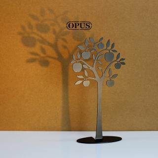 【OPUS東齊金工】歐式鐵藝飾品架/金屬首飾座/戒指項鍊架(PI-ap02B 蘋果樹_經典黑)