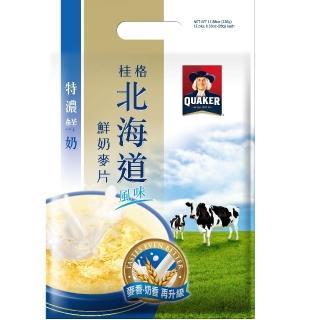 【桂格】北海道特濃鮮奶麥片28g*12入(早餐推薦)