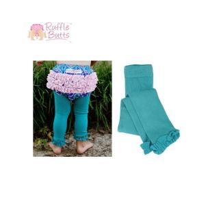 【美國 RuffleButts】小公主甜美荷葉邊內搭褲襪_湖水綠(RBRT011)