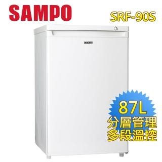 【SAMPO 聲寶】87公升直立式冷凍櫃(SRF-90S)