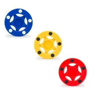 【D.L.D多輪多】直排輪曲棍球餅(紅、黃、藍 三入一組)
