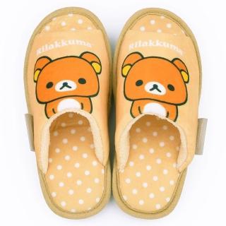 【童鞋城堡】拉拉熊 女款 點點普普風造型棉拖(KM26052-杏)
