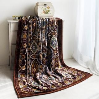 【大阪寢屋川】《米亞皇宮-咖》日製雙層單人毯(140*200CM)