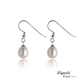 【大東山珠寶】天然淡水珠銀勾水滴耳環(時尚珍珠)