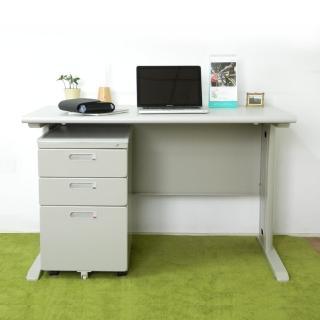 【時尚屋】CD120灰色辦公桌櫃組(Y700-7+Y702-19)